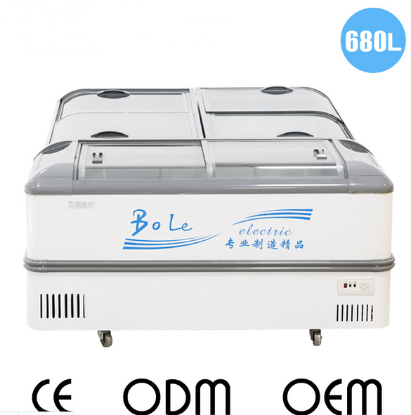 716L Combined Island Freezer for Supermarket (3 Pieces) in Lower Temperature