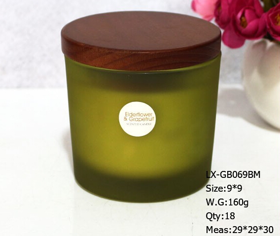 Eco-friendly custom glass jar scented candle