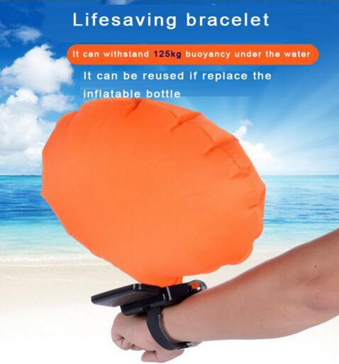 Hot selling survival self rescue swimming inflating bracelets for water sports
