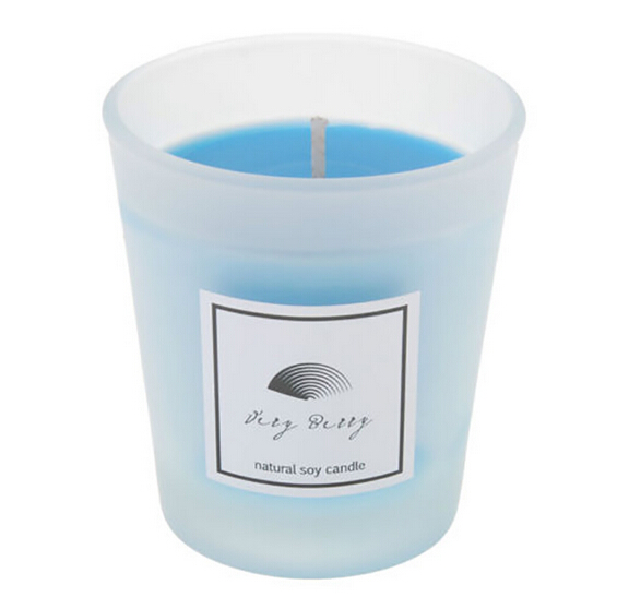 Multi-Colored Frosted Glass Jar Votive  Candle