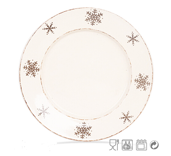 Silk Screen Ceramic Dinner Plate Wholesale