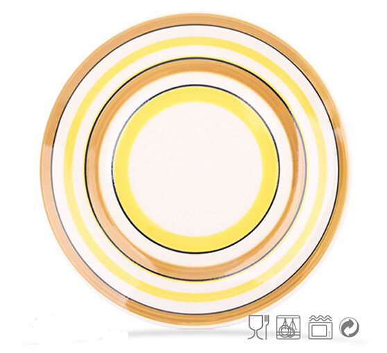 Handpainting Multicolor Cheap Ceramic Plate