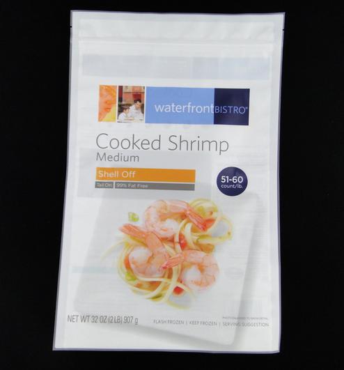Three Sides Sealed Seafood Plastic Bag