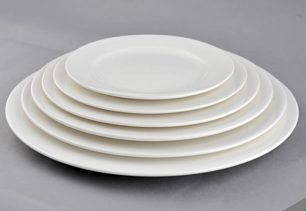 Various Size Heat insulation Round White Plate