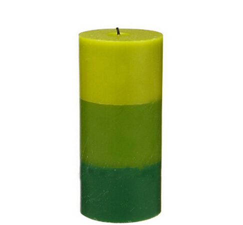 Three Layers Of Gradient Color Pillar Candle