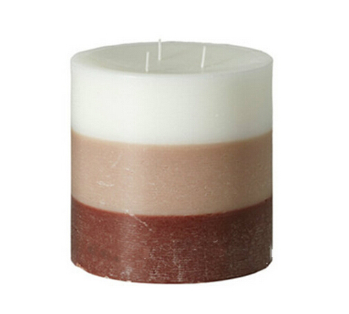 Three Layers Color Hand Poured Scented Pillar Candle