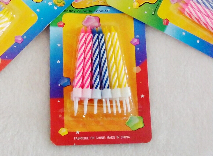 Colorful eco-friendly taper party candles
