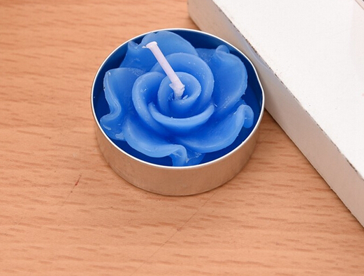 Home decorative flower shape scented candle