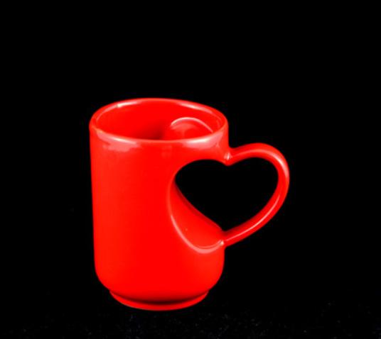 12 oz marriage mug cup with heart handle