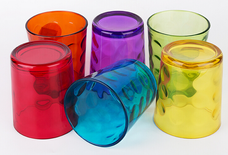 Promotional 390ML colorful eco-friendly soft drinking glassware
