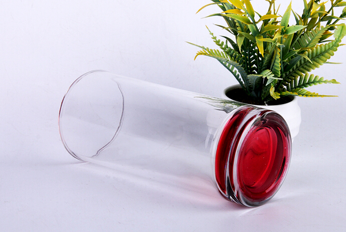 Factory outlet colored bottom drinking glass wholesale