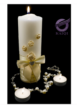 High quality fancy decorative white pillar candle wholesle