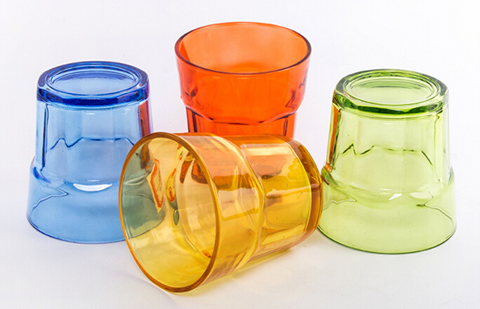 250ml best quality transparent drinking glass with sprayed color