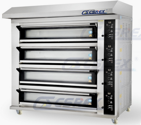 Modern Type 4 Decks Electric Deck Oven with Big Glass Window