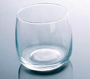 Simple Clear Cylindrical Shape Water Glass