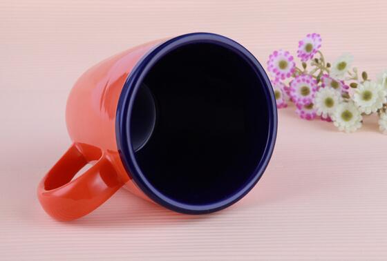Bicolor Single-Layer High Quality Ceramic Coffee Mugs