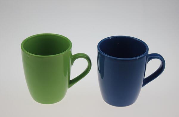 12oz A-B Grade Color Glaze Ceramic Mug