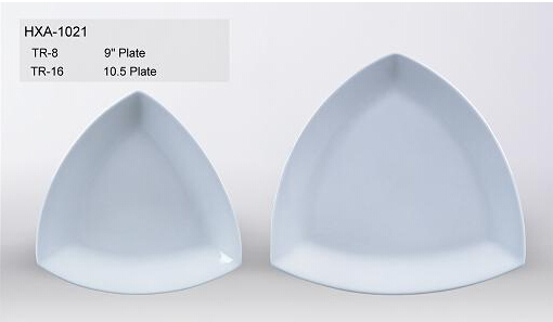 White Eco-Friendly Triangle Stoneware Plate