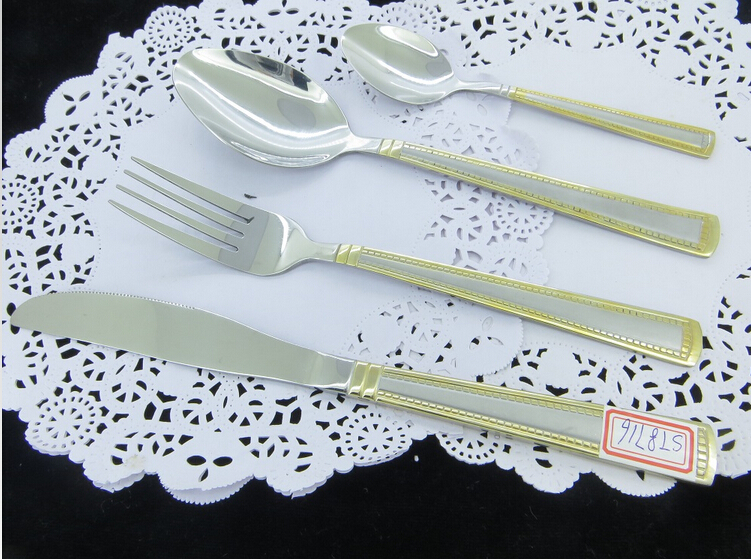Immersion Gold Stainless Steel Cutlery Set
