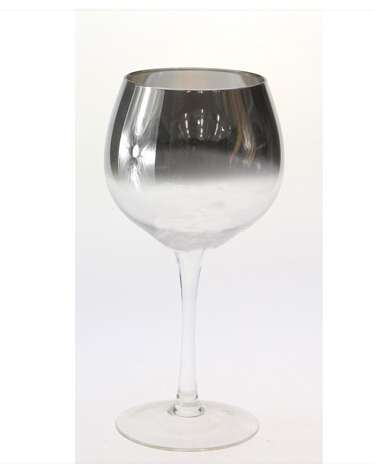 Unique shape wine glass with customized logo and label