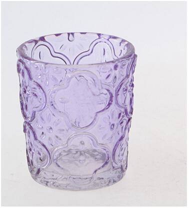 Eco-friendly purple pattern wine glass wholesale