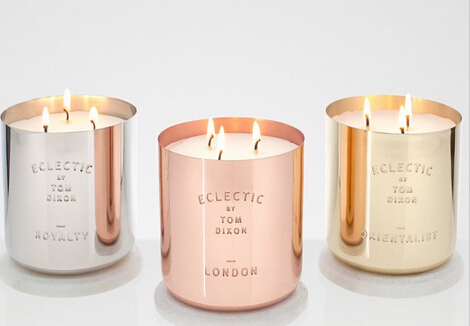 Luxury copper jar scented candle
