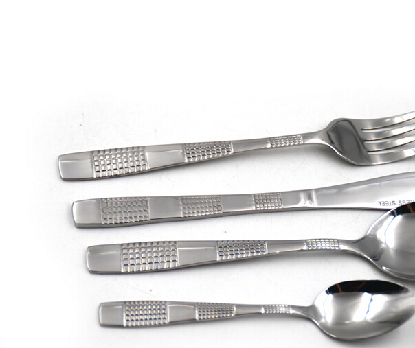 Cheap stocked stainless steel cutlery