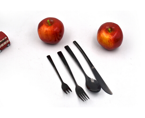 Simplicity Black Stainless Steel Cutlery