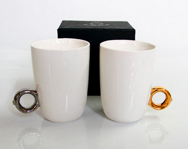 750ml White Sublimation Mug With Special Design Handle