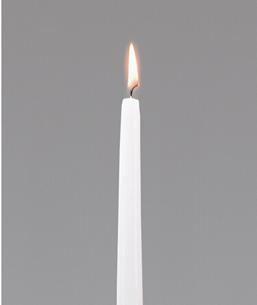 100% cotton wick household taper candle