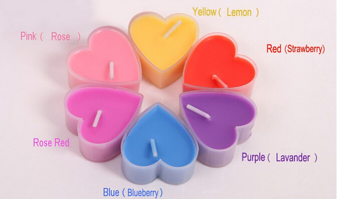 Heart Shape Multi-Colored Tealight Candles In Bulk