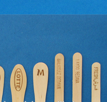 Customed hot-stamping logo printed popsicle sticks