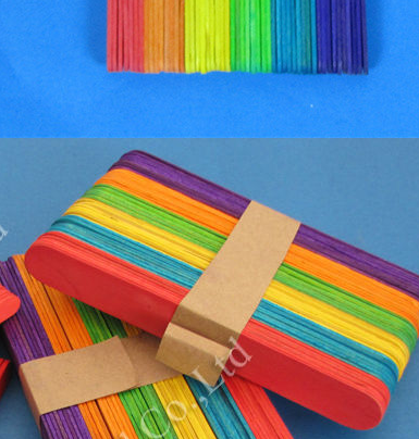 Wholesale Crafts colorful Ice Cream Sticks