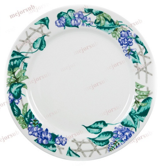 Ceramic Plate with Design Beans Flower