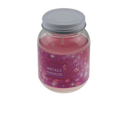 Burn long time glass jar candle with lid