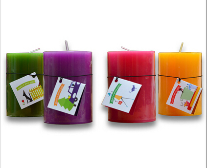Home Decoration Colorful Pillar Candle