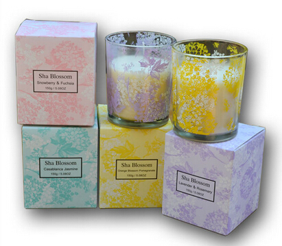 150G freshness hot sale decal jar candle