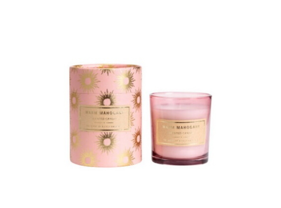 Flower Perfume Jar Scented Candle