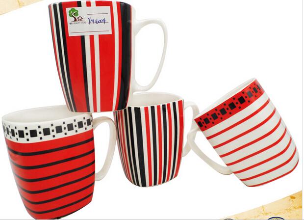 15 oz Quartet Shape High Quality Ceramic Mug