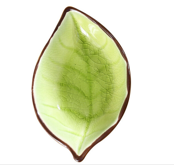 Leaf Shape Customized Size Ceramic Plate