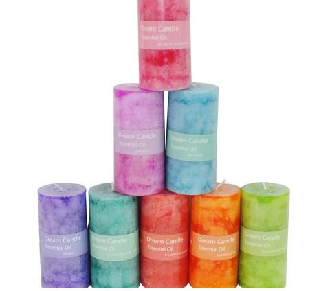 High quality cheap rose scent pillar candles