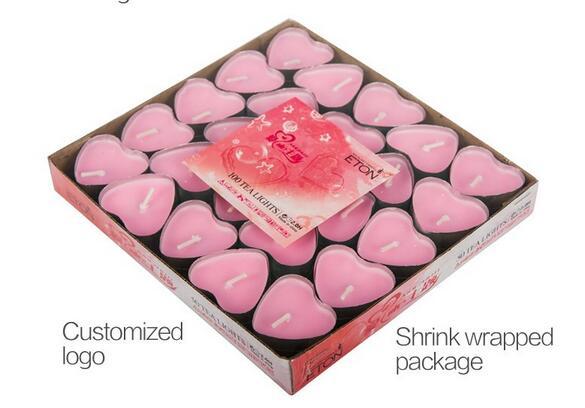 7g heart shape paraffin wax tealight candle