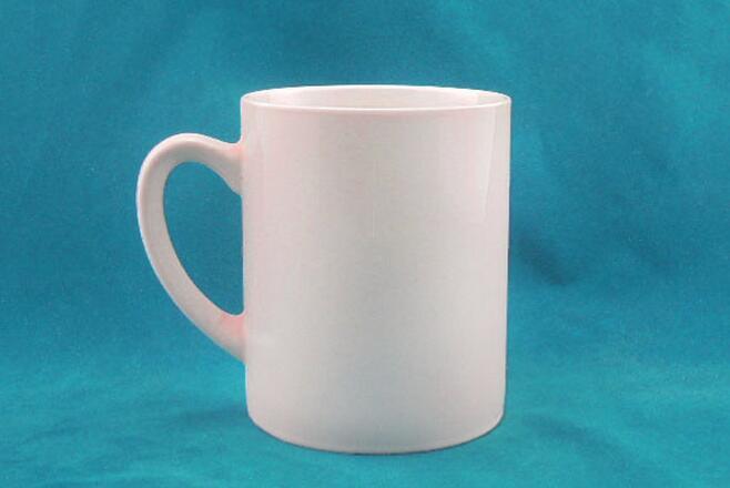 11oz Straight Shape White Ceramic Mug
