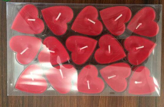 Heart Shape Design Unscented Tealight Candles