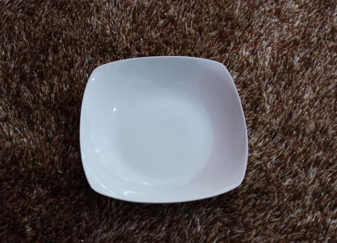 Stocked Square Unicolor Ceramic Table Plate