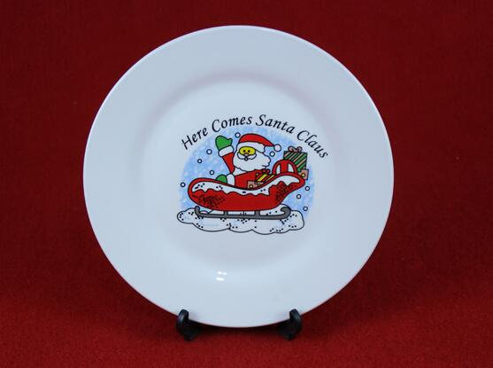 Eco-Friendly Merry Christmas Porcelain Plate
