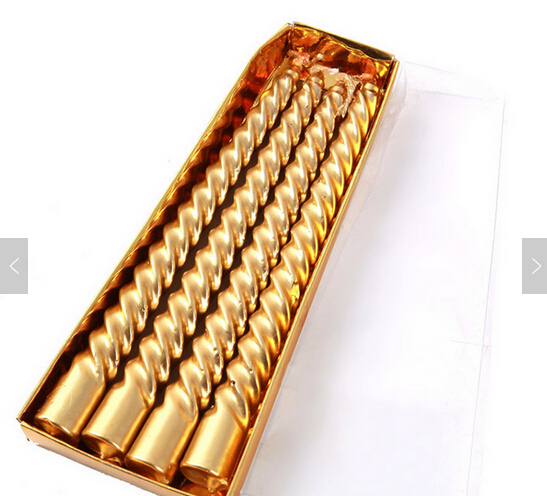 High quality gold cheap taper candle