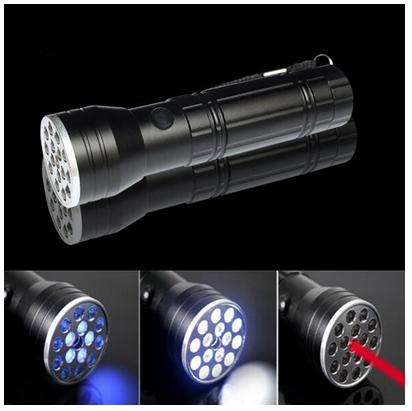 Laser Pointer UV Toch 15 LED 3 in 1 Flashlight