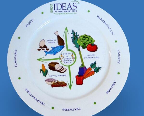 0.5 inch kids round white cartoon decal dinner plates