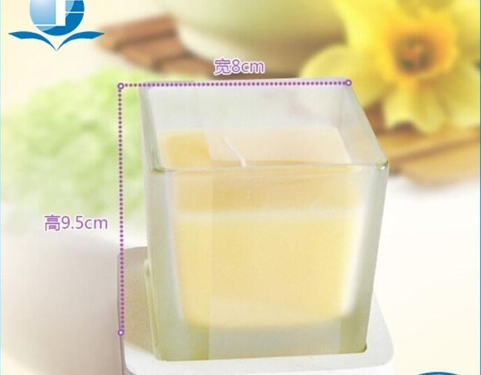 Glass cup colorful scented beewax candles